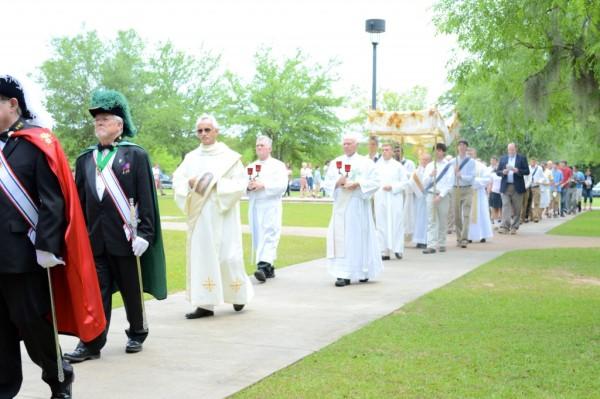 Adoration Procession at John Paul II High School Tallahassee, Florida